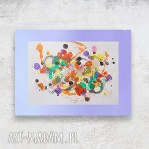 Kolorowa grafika, ręcznie malowana abstrakcja, abstrakcja