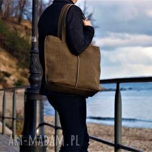 Prezent ZIELONA TORBA ZE SKÓRY, torba, torebka, torba-na-ramię, torba-do-pracy,