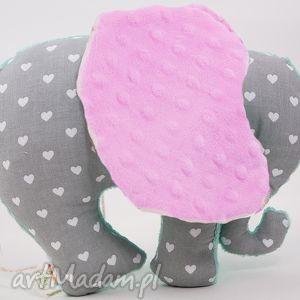 Słoń SERDUSZKA róż, przytulanka, maskotka, słoń, słonik