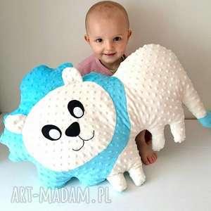 maskotki poduszka dziecięca lew, lew hand made, przytulanka