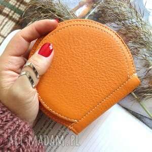 portfele portmonetka skórzana pumpkin pomarańczowa