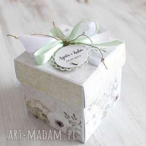 hand-made scrapbooking kartki pudełko - kartka na ślub