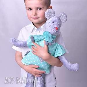 Prezent Przytulanka dziecięca miś z szalikiem, miś, poduszka-miś, przytulanka-miś
