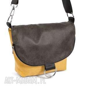Listonoszko-plecak mały, plecak, torebka, listonoszka, żółta