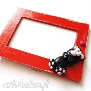 handmade ramki ramka na zdjęcia czarny kotek