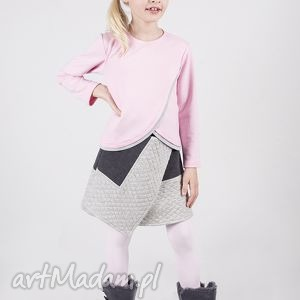 spódniczka ds02 nena, romb, pikowana, stylowa ubranka
