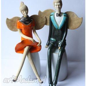 Para anielska VI, ceramika, anioł