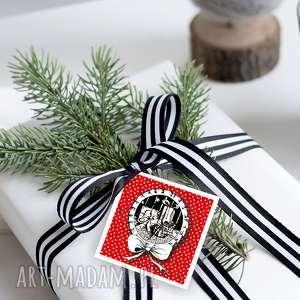 bileciki na ŚwiĄteczne prezenty 6 szt, prezenty, zawieszki, świąteczne