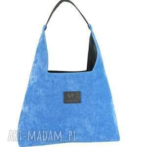 boba xl do pracy i nie tylko niebieska, duża torebka, produkt polski, lekka