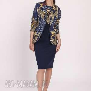 kobieca sukienka o klasycznym kroju, suk170 liście granat, na awesele