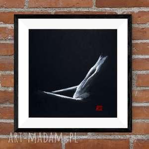 obraz ręcznie malowany 30 x cm, akt kobiecy, abstrakcja, obrazy malow