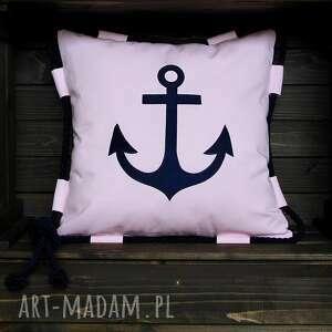 poduszka jaś marine - ewa, marine, kotwica, morski, marynistyczny, marynarski