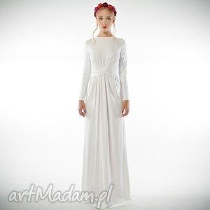 Cristina Patria 2 Maxi White, ślubna, suknia, dzianina, xxl