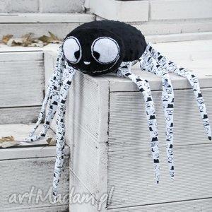 Pan Pająk- wyjątkowa maskotka handmade, pająk, maskotka, nietypowe, minky, zabawka