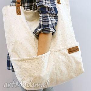 handmade torebki jasna, płócienna