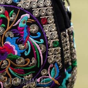torebka etniczna haftowana - haftowana, boho, etno, podróż, mama, prezent