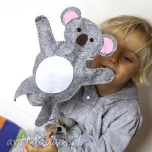 filcowa pacynka koala zygmuś - maskotka do kreatywnej zabawy, pacynka, filc