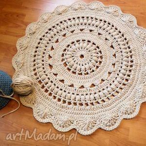 Dywan ręcznie wykonany 90 cm wools dywan, dywanik, dywany