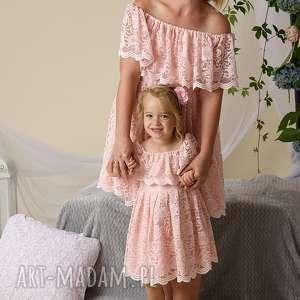 komplet sukienek gabriela dla mamy i córki, koronkowe, sukienki mama córka