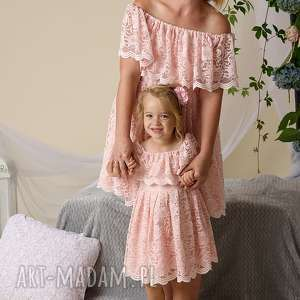 Komplet sukienek gabriela dla mamy i córki mrugala koronkowe