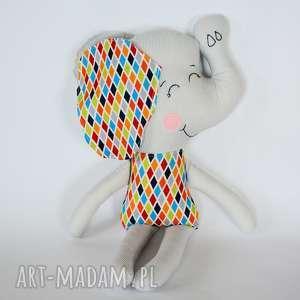 Słoń Farciarz - Maks 48 cm , słoń, maskotka, chłopczyk, przytulanka, roczek