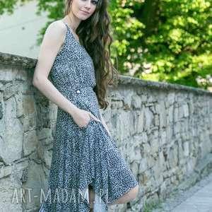 sukienki sukienka sen jednej nocy panterka, sukienki, t shirt, spodnie