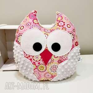 handmade pomysł na prezenty święta duża sowa, poduszka ozdobna z minky