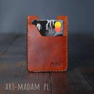 minimalistyczny portfel skórzany męski ręcznie szyty