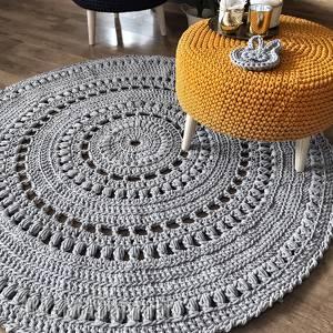 dywan z grubego sznurka mandala rug 140cm, dywan, mandala, bawełniany