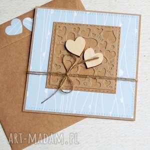 ręcznie zrobione kartki kartka ślubna lub miłosna: mięta
