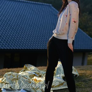 spodnie czarne sunbyoushi, spodnie, damskie, wiosna, lato, alladynki