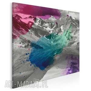 obraz na płótnie - góry kolory 80x80 cm 12301, góry, kolory, krajobraz