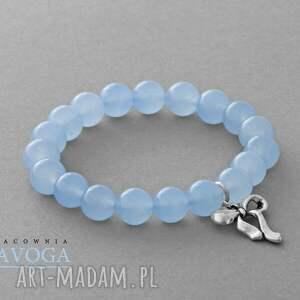 Jade with bow pendant in light blue. - ,jadeit,zawieszka,kokardka,