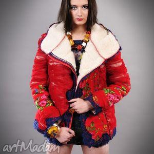 ręcznie zrobione kurtki kurtka folk design