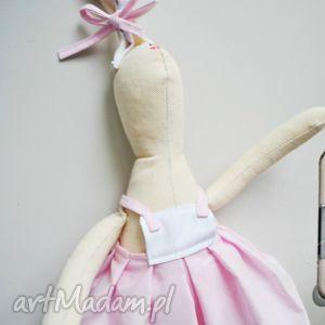 Prezent Pani Królik, maskotka, przytulanka, szmaciana, urodziny, prezent, zabawka