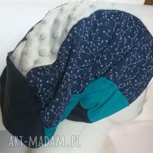 czapki czapka turbanowa etno boho patchwork - box 44- na podszewce, rozmiar