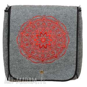 hand made na ramię filcowa torebka listonoszka