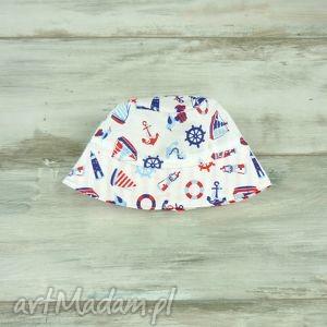 kapelusz dla dziecka motyw morski - bawełna, wiosenny, letni