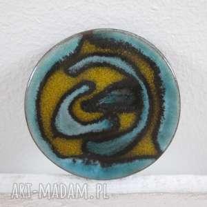 fantazyjna broszka ceramiczna - ceramiczna, unikatowa, z ceramiki, na prezent