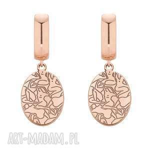 hand made kolczyki kolczyki z różowego złota art n°2