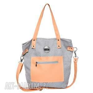 na ramię torba worek plecionka flamingo pocket, worek, plecionka, jasna, wygodna