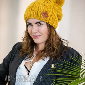 handmade czapki business instinct pikantna musztarda
