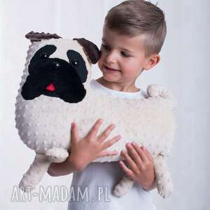 Przytulanka dziecięca pies mops, poduszka-pies, dekoracja-pokoju, pokój-dziecka