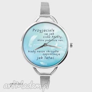 zegarek, bransoletka - przyjaciele są jak ciche anioły - bransoletka, zegarek