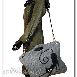 Oryginalna, uniwersalna torba z aplikacją 3D, aplikacja3d, torba, torebka, filc