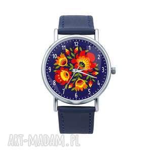 Prezent Zegarek z grafiką ŁOWICKI BUKIET, folk, etniczne, ludowe, grafika, prezent
