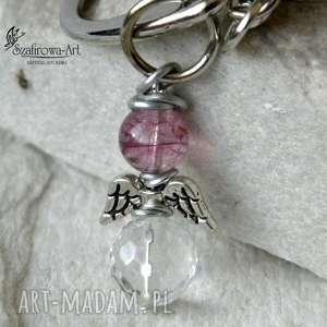 4c87aef312fae6 breloki anioł kryształ - brelok, klucze, torebka, anioł, prezent