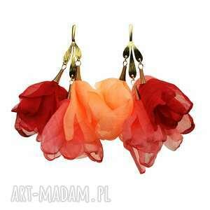 Lekkie kolorowe kobiece kolczyki do sukienki c860 artseko kwiaty