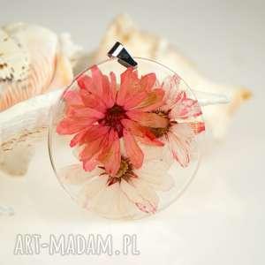 ręcznie robione naszyjniki naszyjnik z prawdziwym kwiatem z61