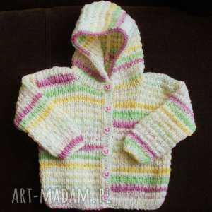 ręczne wykonanie sweterek z kapturkiem motylek